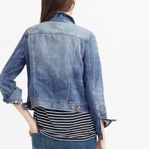 J. Crew Indigo Blue Jean Jacket Sz XS Like New